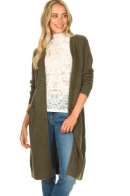 JC Sophie |  Soft knitted cardigan Estevania | green  | Picture 4