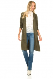 JC Sophie |  Soft knitted cardigan Estevania | green  | Picture 3