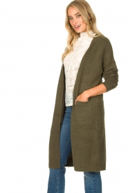 JC Sophie |  Soft knitted cardigan Estevania | green  | Picture 6
