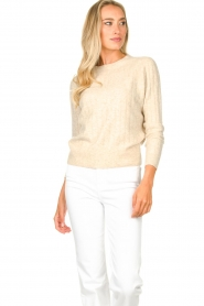 JC Sophie |  Knitted sweater Estebana | beige  | Picture 4