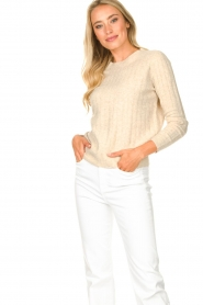 JC Sophie |  Knitted sweater Estebana | beige  | Picture 5