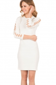 NIKKIE |  Fitted dress Jula | white   | Picture 2
