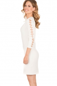 NIKKIE |  Fitted dress Jula | white   | Picture 4