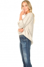 JC Sophie :  Knitted sweater Ethel | grey - img4
