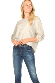 JC Sophie :  Knitted sweater Ethel | grey - img2