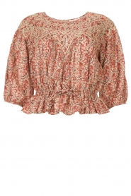 ba&sh |  Floral top Isaure | red  | Picture 1