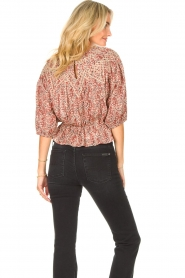 ba&sh |  Floral top Isaure | red  | Picture 7