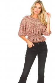 ba&sh |  Floral top Isaure | red  | Picture 2