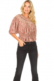 ba&sh |  Floral top Isaure | red  | Picture 4