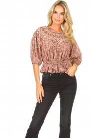 ba&sh |  Floral top Isaure | red  | Picture 5