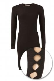 NIKKIE | Fitted jurk Jula | zwart   | Afbeelding 1