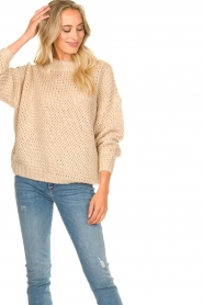 JC Sophie | Knitted sweater Edison | beige  | Picture 4