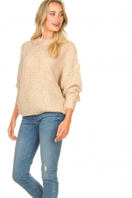 JC Sophie | Knitted sweater Edison | beige  | Picture 2