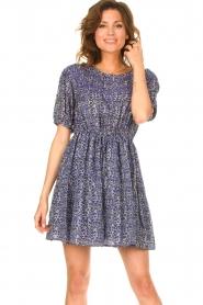 ba&sh |  Dress with drawstrings Iris | blue  | Picture 2