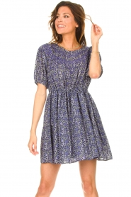 ba&sh |  Dress with drawstrings Iris | blue  | Picture 4
