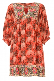 ba&sh |  Dress with print Gaia | orange  | Picture 1