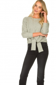 JC Sophie |  Sweater with knot detail Esra | green  | Picture 4