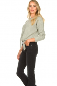 JC Sophie |  Sweater with knot detail Esra | green  | Picture 6