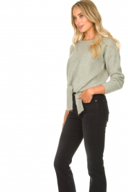 JC Sophie |  Sweater with knot detail Esra | green  | Picture 5