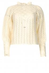 ba&sh |  Crochet sweater Aste | ecru  | Picture 1