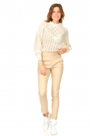 ba&sh |  Crochet sweater Aste | ecru  | Picture 3