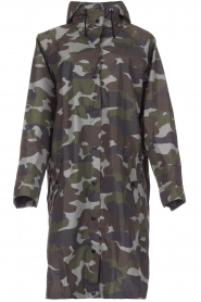 Becksöndergaard |  Rain coat with camo print Magpie | green  | Picture 1