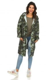 Becksöndergaard |  Rain coat with camo print Magpie | green  | Picture 3
