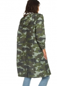 Becksöndergaard |  Rain coat with camo print Magpie | green  | Picture 6