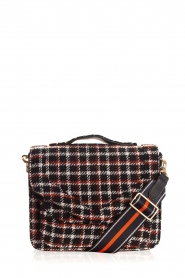 Becksöndergaard |  Shoulder bag with checks Mara | black