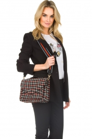 Becksöndergaard |  Shoulder bag with checks Mara | black  | Picture 2