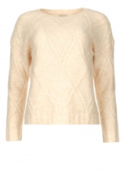 JC Sophie |  Cable knit sweater Esparanza | beige  | Picture 1