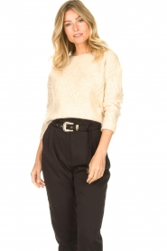 JC Sophie |  Cable knit sweater Esparanza | beige  | Picture 5