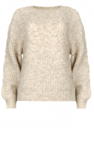 JC Sophie |  Sweater with open details Estrella | grey  | Picture 1