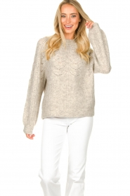 JC Sophie |  Sweater with open details Estrella | grey  | Picture 4