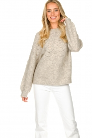 JC Sophie |  Sweater with open details Estrella | grey  | Picture 5