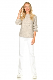 JC Sophie |  Sweater with open details Estrella | grey  | Picture 3
