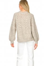 JC Sophie |  Sweater with open details Estrella | grey  | Picture 7