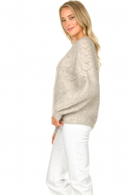 JC Sophie |  Sweater with open details Estrella | grey  | Picture 6