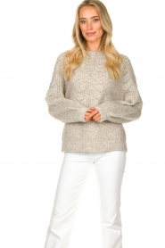 JC Sophie |  Sweater with open details Estrella | grey  | Picture 2