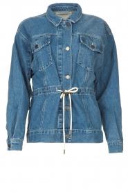 ba&sh |  Denim jacket with drawstrings Edson | blue  | Picture 1