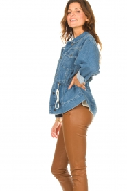 ba&sh |  Denim jacket with drawstrings Edson | blue  | Picture 6