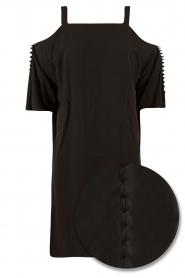 NIKKIE | Jurk Sutton Bardot | zwart   | Afbeelding 1