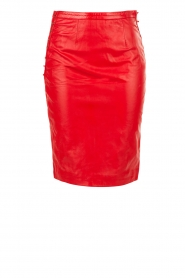 NIKKIE |  Leather pencil skirt Maisy | red  | Picture 1
