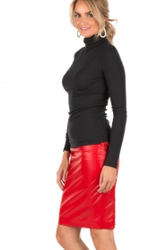 NIKKIE |  Leather pencil skirt Maisy | red  | Picture 4