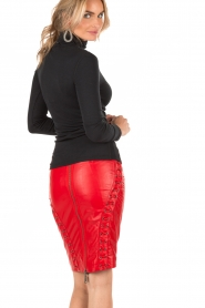 NIKKIE |  Leather pencil skirt Maisy | red  | Picture 5