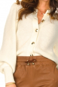ba&sh |  Knitted cardigan Baylor | ecru  | Picture 7