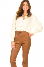 ba&sh |  Knitted cardigan Baylor | ecru  | Picture 4