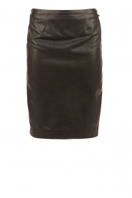 Leather pencil skirt Maisy | black