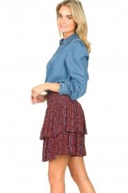 ba&sh | Denim blouse met ruches Lilas | blauw  | Afbeelding 6