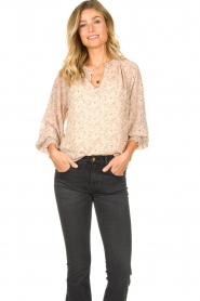 JC Sophie |  Printed blouse Enzo |pink  | Picture 2